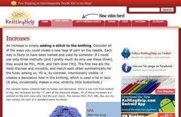 http://www.knittinghelp.com/videos/increases