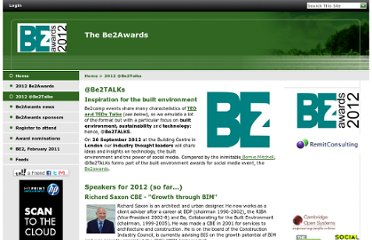 http://www.be2awards.com/2012-be2talks/