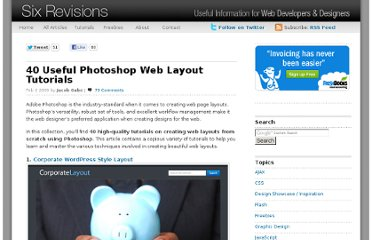http://sixrevisions.com/web_design/40-useful-photoshop-web-layout-tutorials/
