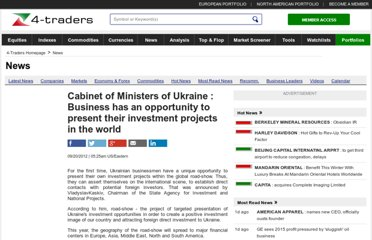 http://www.4-traders.com/news/Cabinet-of-Ministers-of-Ukraine-Business-has-an-opportunity-to-present-their-investment-projects--15216887/