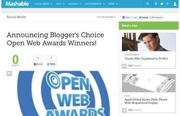 http://mashable.com/2008/12/10/announcing-bloggers-choice-open-web-awards-winners/