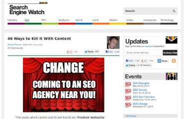 http://searchenginewatch.com/article/2207432/46-Ways-to-Kill-It-With-Content