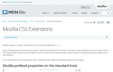 https://developer.mozilla.org/en-US/docs/CSS/CSS_Reference/Mozilla_Extensions