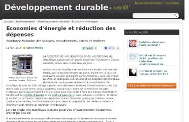 http://suite101.fr/article/economies-denergie-et-reduction-des-depenses-a7775
