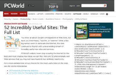 http://www.pcworld.com/article/194735/incredibly_useful_sites.html