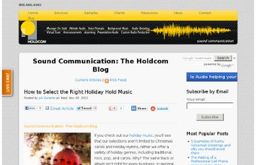 http://soundcommunication.holdcom.com/bid/78409/How-to-Select-the-Right-Holiday-Hold-Music