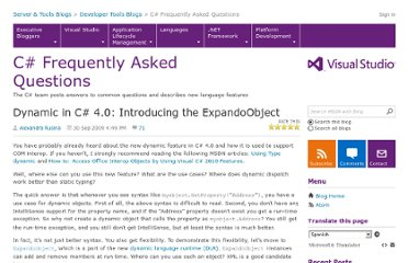 http://blogs.msdn.com/b/csharpfaq/archive/2009/10/01/dynamic-in-c-4-0-introducing-the-expandoobject.aspx