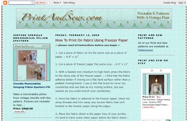 http://printandsew.blogspot.com/2009/02/how-to-print-on-fabric-using-freezer.html