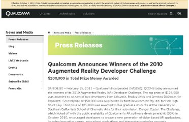 http://www.qualcomm.com/media/releases/2011/02/15/qualcomm-announces-winners-2010-augmented-reality-developer-challenge