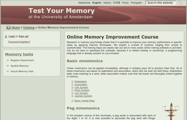 http://memory.uva.nl/en/training/memory_improvement/