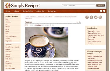 http://www.simplyrecipes.com/recipes/eggnog/