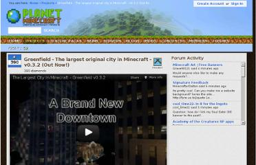 http://www.planetminecraft.com/project/greenfield---new-life-size-city-project/