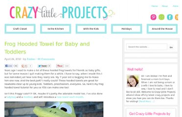 http://crazylittleprojects.com/2012/04/frog-hooded-towel-for-baby-and-toddlers.html