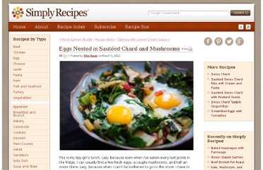 http://www.simplyrecipes.com/recipes/eggs_nested_in_sauteed_chard_and_mushrooms/