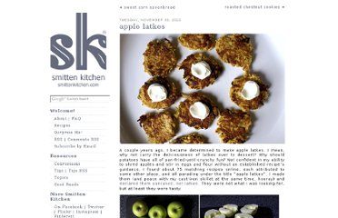 http://smittenkitchen.com/blog/2010/11/apple-latkes/