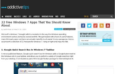 http://www.addictivetips.com/windows-tips/22-free-windows-7-apps-that-you-should-know-about/