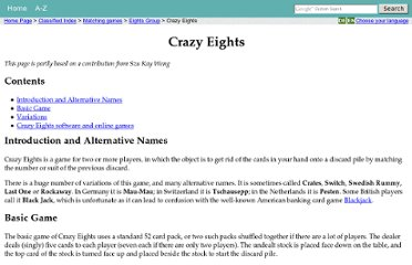 http://www.pagat.com/eights/crazy8s.html