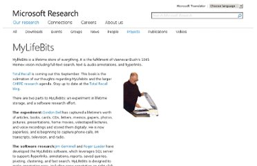 http://research.microsoft.com/en-us/projects/mylifebits/default.aspx