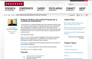 http://www.educause.edu/blogs/gbayne/podcast-writing-successful-proposal-conference-presentation