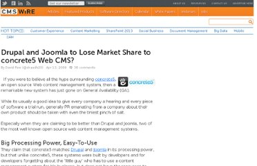 http://www.cmswire.com/cms/web-cms/drupal-and-joomla-to-lose-market-share-to-concrete5-web-cms-004347.php