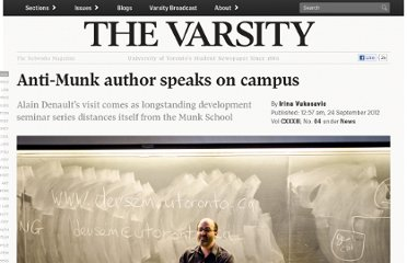 http://thevarsity.ca/2012/09/24/anti-munk-author-speaks-on-campus/