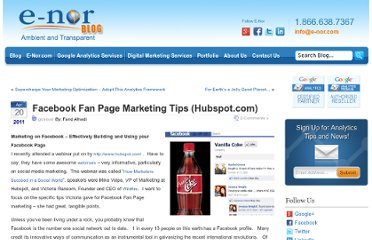 http://www.e-nor.com/blog/general/facebook-fan-page-marketing-tips-hubspot-com