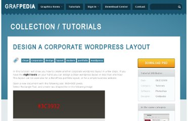http://grafpedia.com/tutorials/design-corporate-wordpress-layout