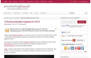 http://www.emarketinglicious.fr/webmarketing/10-business-modeles-gagnants-en-2010