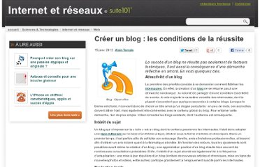 http://suite101.fr/article/creer-un-blog--les-conditions-de-la-reussite-a33245