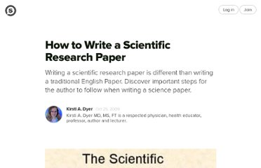 http://suite101.com/article/how-to-write-a-scientific-research-paper-a161079