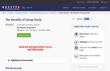 http://www.questia.com/library/1G1-121765611/the-benefits-of-group-study