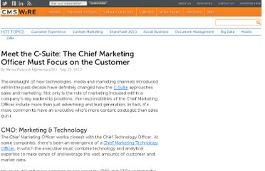 http://www.cmswire.com/cms/social-business/meet-the-csuite-the-chief-marketing-officer-must-focus-on-the-customer-017522.php