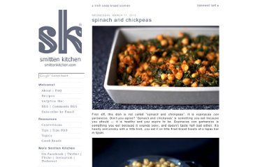 http://smittenkitchen.com/blog/2010/03/spinach-and-chickpeas/