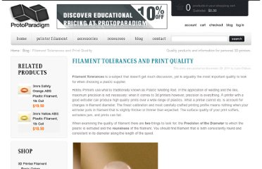 http://www.protoparadigm.com/blog/2011/11/filament-tolerances-and-print-quality/