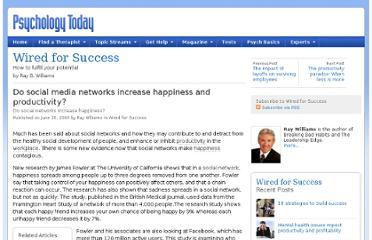 http://www.psychologytoday.com/blog/wired-success/201006/do-social-media-networks-increase-happiness-and-productivity