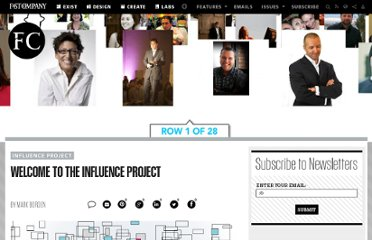 http://www.fastcompany.com/1666288/welcome-influence-project