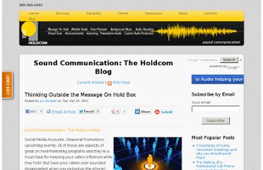 http://soundcommunication.holdcom.com/bid/76293/Thinking-Outside-the-Message-On-Hold-Box