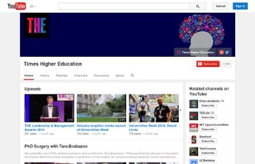 http://www.youtube.com/user/TimesHigherEducation