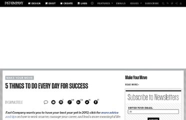 http://www.fastcompany.com/1733248/5-things-do-every-day-success