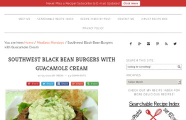 http://www.cinnamonspiceandeverythingnice.com/southwest-black-bean-burgers-with-guacamole-cream/