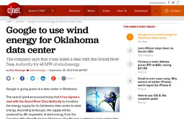 http://news.cnet.com/8301-11386_3-57520644-76/google-to-use-wind-energy-for-oklahoma-data-center/