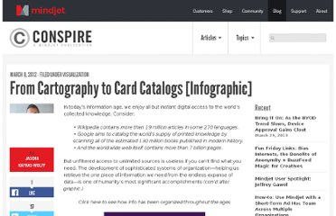http://blog.mindjet.com/2012/03/from-cartography-to-card-catalogs-the-history-of-information-organization-infographic/