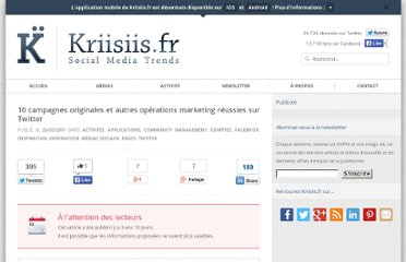 http://www.kriisiis.fr/10-campagnes-originales-et-autres-operations-marketing-reussies-sur-twitter/
