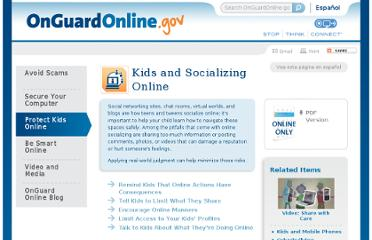 http://www.onguardonline.gov/articles/0012-kids-and-socializing-online