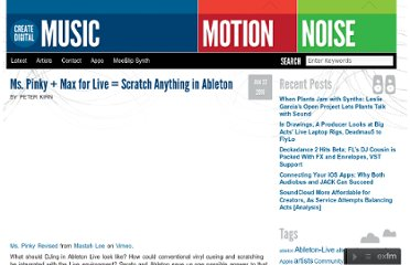 http://createdigitalmusic.com/2010/01/ms-pinky-max-for-live-scratch-anything-in-ableton/