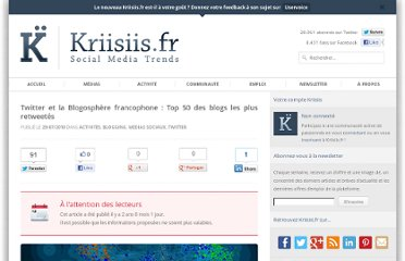 http://www.kriisiis.fr/twitter-et-la-blogosphere-francophone-top-50-des-blogs-les-plus-retweetes/
