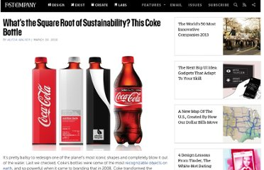 http://www.fastcompany.com/1601616/whats-square-root-sustainability-coke-bottle