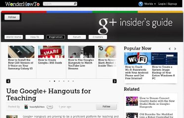 http://googleplus.wonderhowto.com/inspiration/use-google-hangouts-for-teaching-0129169/