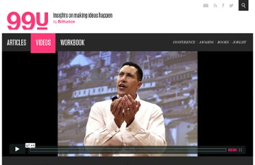 http://99u.com/videos/6806/Frans-Johansson-The-Secret-Truth-About-Executing-Great-Ideas