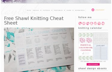 http://www.laylock.org/blog/2011/05/free-shawl-knitting-cheat-sheet/